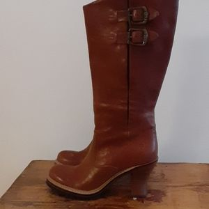 NEW Frye Mildred English Pull on Cognac  6.5
